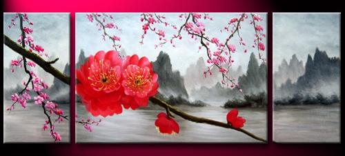 Peinture A L Huile Fleurs De Cerisier