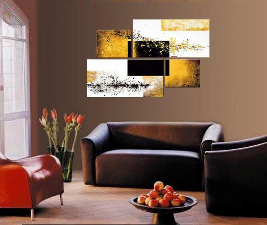 peinture l 39 huile abstraite el ment m tal. Black Bedroom Furniture Sets. Home Design Ideas