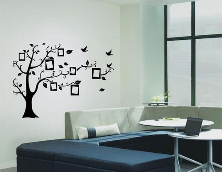 sticker arbre photos noir stickers muraux. Black Bedroom Furniture Sets. Home Design Ideas