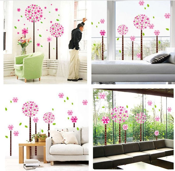 sticker arbres en fleurs stickers muraux. Black Bedroom Furniture Sets. Home Design Ideas