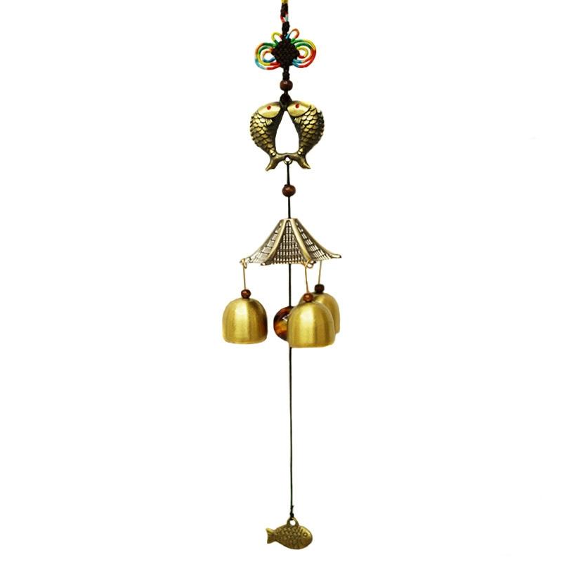 carillon double poissons carpes 3 clochettes rem des. Black Bedroom Furniture Sets. Home Design Ideas