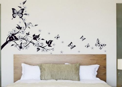sticker arbre aux papillons stickers muraux. Black Bedroom Furniture Sets. Home Design Ideas