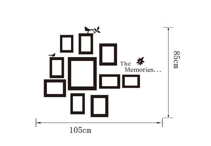 sticker cadres aux oiseaux stickers muraux. Black Bedroom Furniture Sets. Home Design Ideas