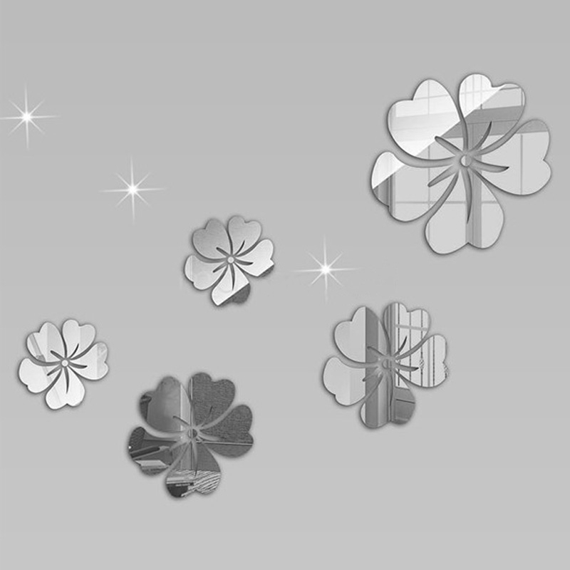 Sticker miroirs fleurs de tiar miroirs d cos for Stickers miroir