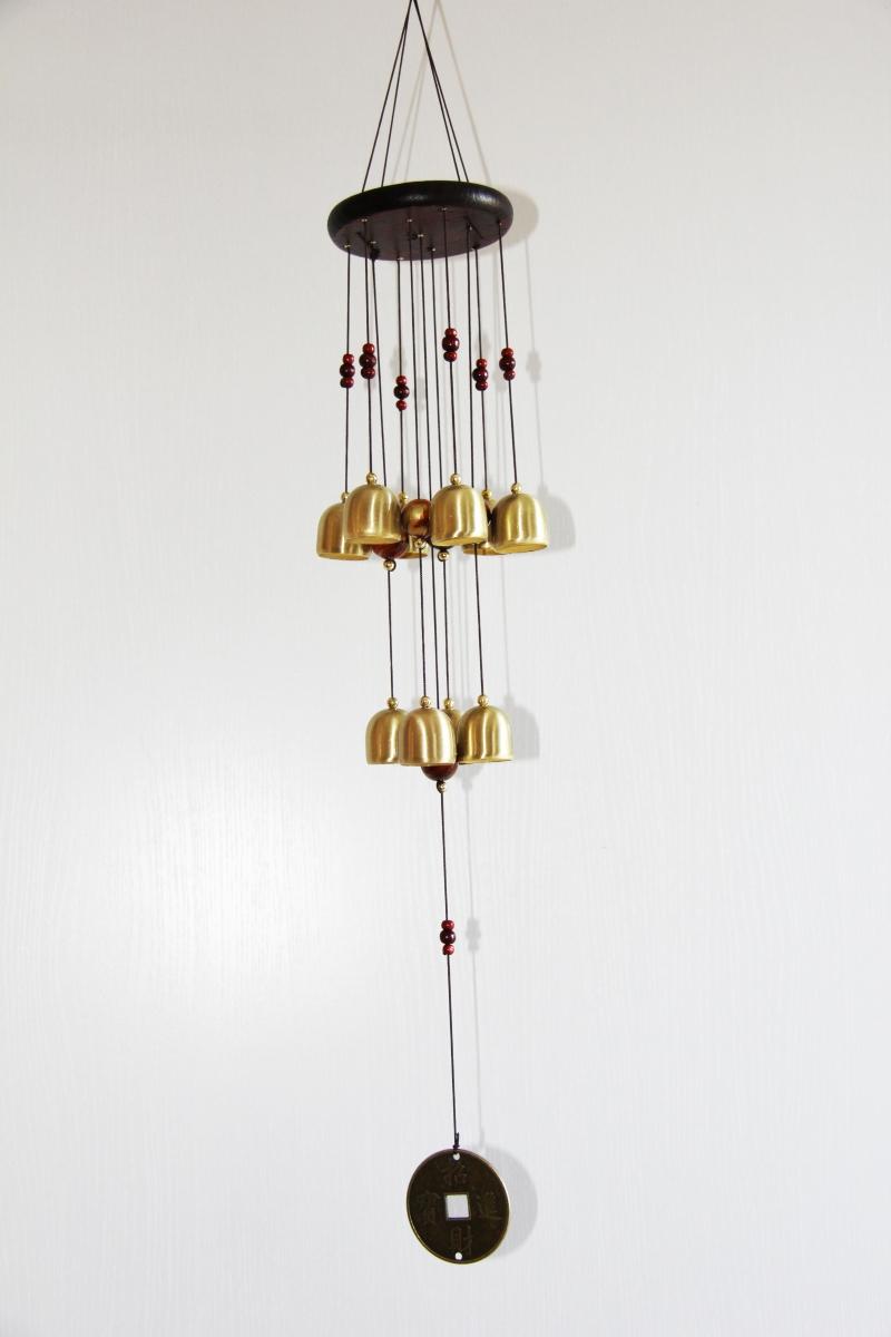 carillon de la richesse 10 clochettes rem des feng shui 2018. Black Bedroom Furniture Sets. Home Design Ideas