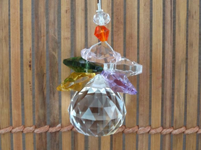 suspension cristal solaire 20mm cascade cristaux feng shui. Black Bedroom Furniture Sets. Home Design Ideas