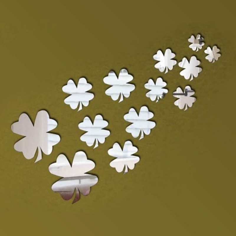 sticker miroirs tr fles 4 feuilles miroirs d cos. Black Bedroom Furniture Sets. Home Design Ideas