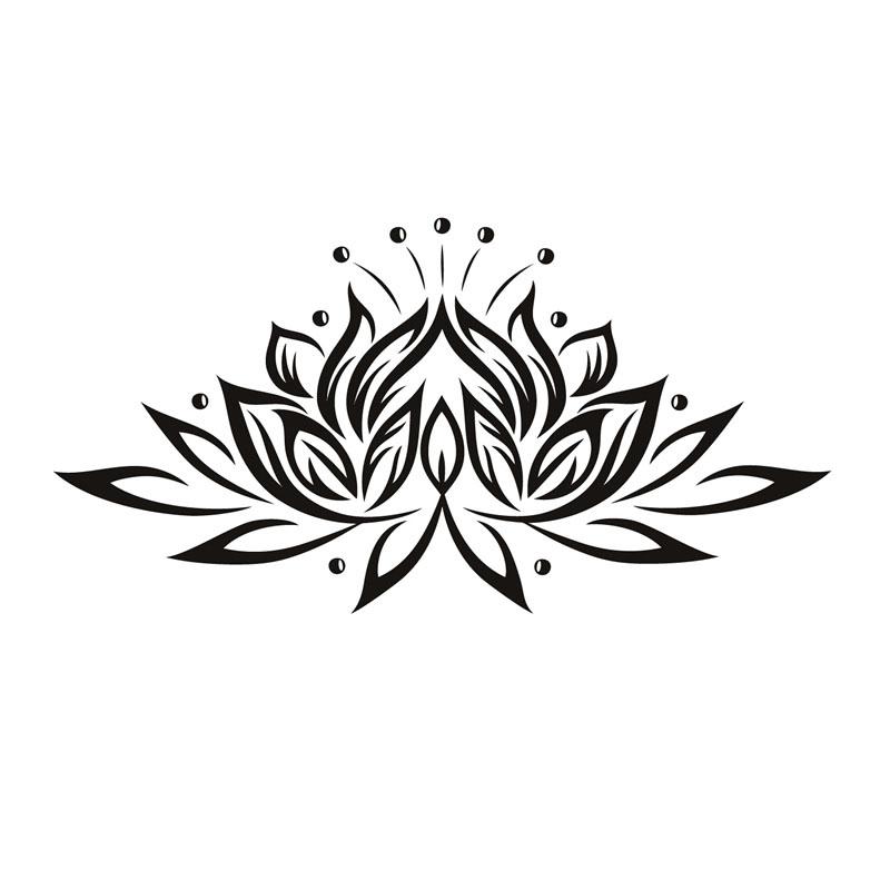 sticker fleur de lotus de la puret stickers muraux. Black Bedroom Furniture Sets. Home Design Ideas