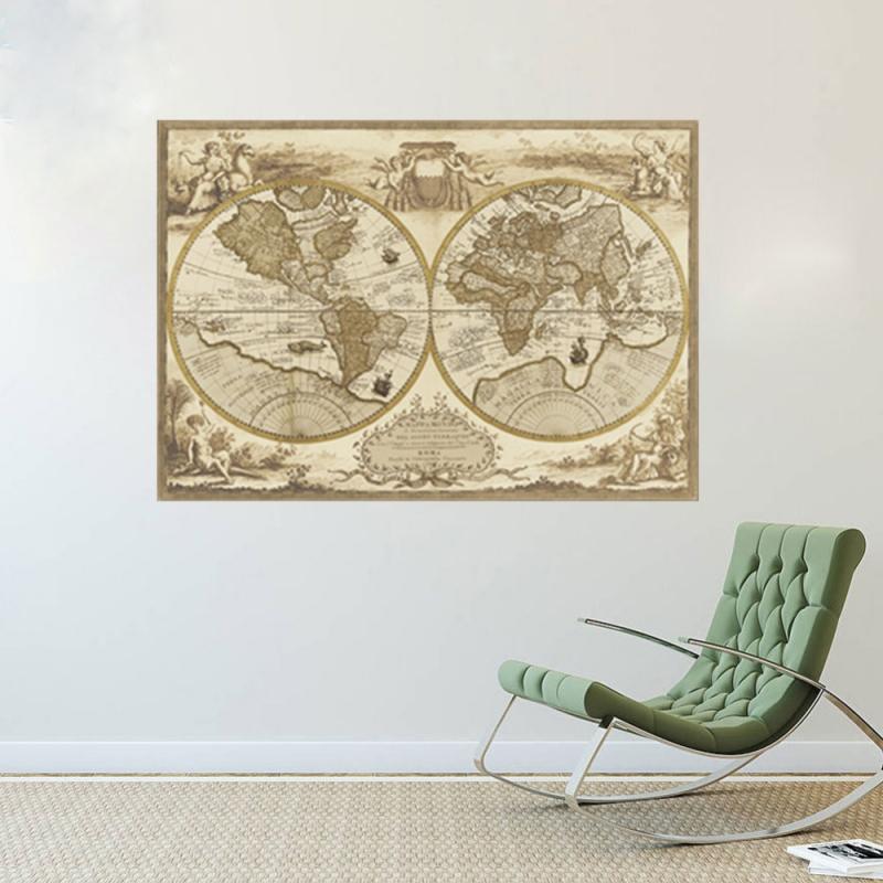 sticker globe mappemonde stickers muraux. Black Bedroom Furniture Sets. Home Design Ideas