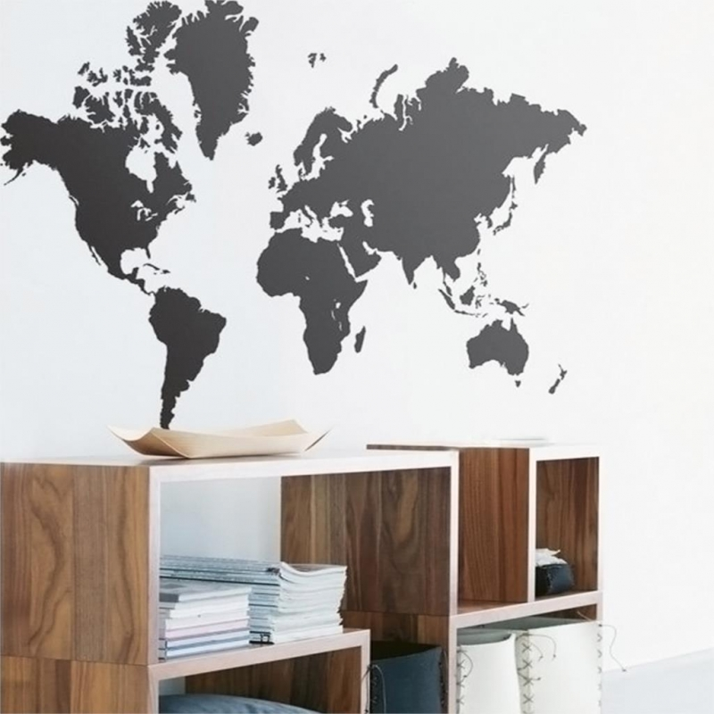 sticker planisph re d co stickers muraux. Black Bedroom Furniture Sets. Home Design Ideas